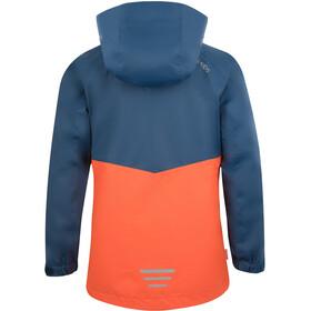 TROLLKIDS Bryggen 3in1 Jacke Mädchen mystic blue/orange